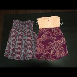 Two Roxy dresses size small